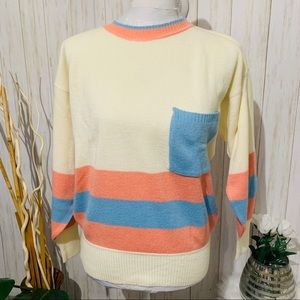 Andrew ST. John Sweater Pullover Striped Medium